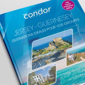 Affiche, sucette, photo, montage, graphisme, pour condor ferries par Indigo communication à Saint-Malo