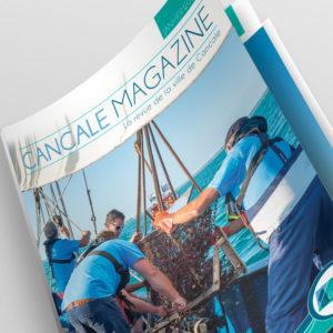 Mise en page, édition, magazine, photo, mer, pour cancale magazine par Indigo communication à Saint-Malo