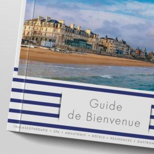 Mise en page, édition, graphisme, illustration pour le nouveau monde des thermes marins par Indigo communication à Saint-Malo